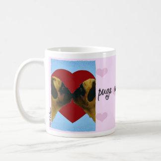"""Will Bullas Valentine mug """"pugs and kisses"""""""