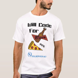 Will Code for Beer and Food - Light Shirts