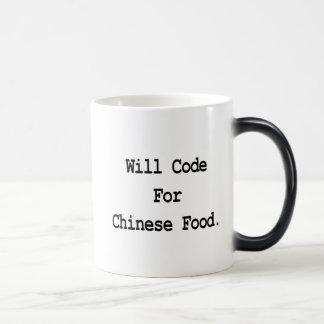 will code for chinese food magic mug