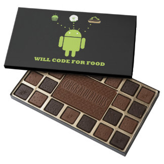 Will Code For Food Android Bugdroid Geek Humor Assorted Chocolates