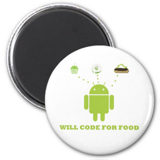 Will Code For Food (Android Software Developer) 2 Inch Round Magnet