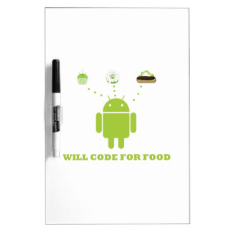 Will Code For Food (Android Software Developer) Dry-Erase Whiteboards