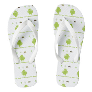 Will Code For Food (Android Software Developer) Flip Flops