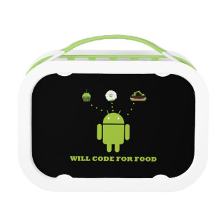 Will Code For Food (Android Software Developer) Lunch Box