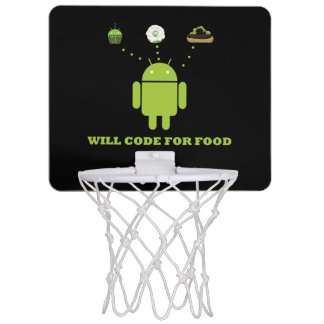 Will Code For Food (Android Software Developer) Mini Basketball Hoop