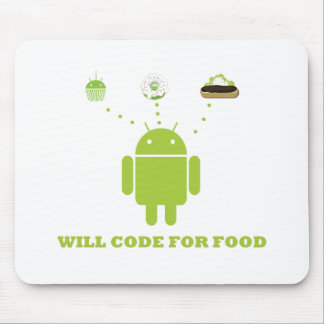 Will Code For Food (Android Software Developer) Mouse Pad