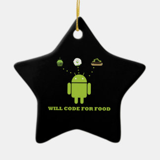 Will Code For Food (Android Software Developer) Christmas Ornaments