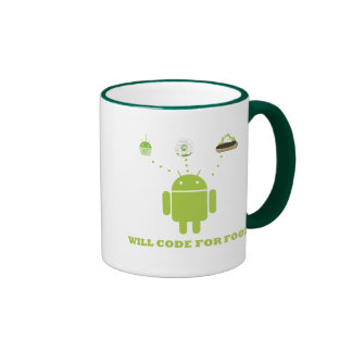 Will Code For Food (Android Software Developer) Ringer Coffee Mug