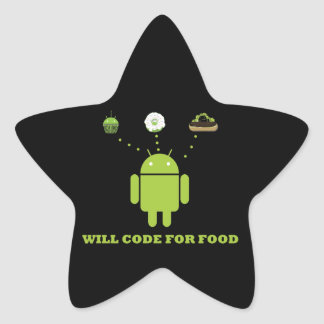 Will Code For Food (Android Software Developer) Star Sticker
