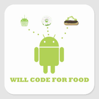 Will Code For Food (Android Software Developer) Sticker