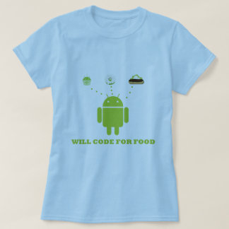 Will Code For Food (Android Software Developer) Tee Shirts