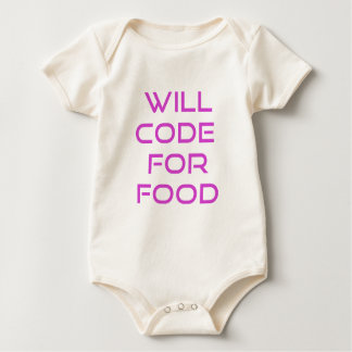 Will Code for Food Baby Bodysuit