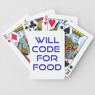 Will Code for Food Bicycle Card Deck