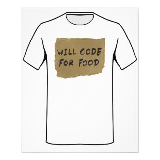 Will Code For Food Flyer