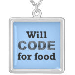 Will Code For Food Necklace