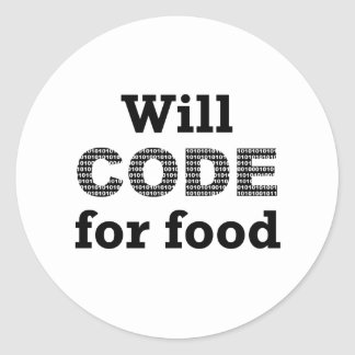 Will Code For Food Stickers