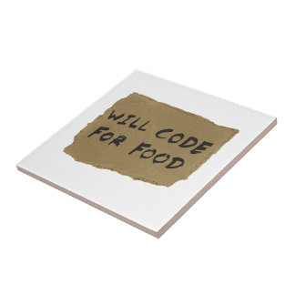 Will Code For Food Tile