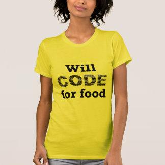 Will Code for Food Women's Tee