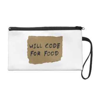 Will Code For Food Wristlet