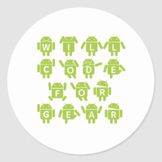 Will Code For Gear (Bugdroid Software Developer) Stickers