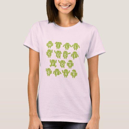 Will Code For Gear (Bugdroid Software Developer) T-Shirt