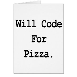will code for pizza card