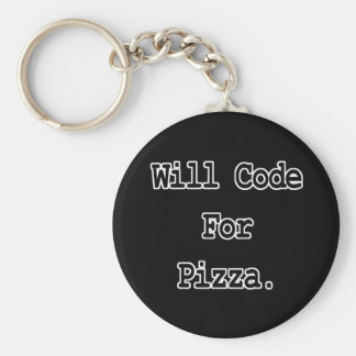 will code for pizza keychain