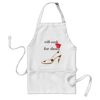 Will Cook for Cute Shoes Polka Dot Heels Aprons