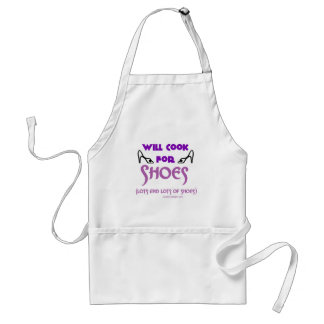 Will Cook For Shoes Adult Apron