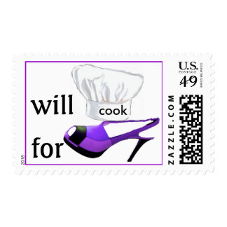 Will Cook for Shoes Purple High Heels Postage