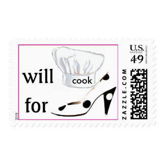 Will Cook for Shoes Stamps