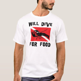 Will Dive For Food Down Flag T-Shirt
