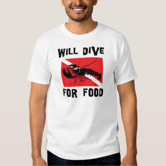 Will Dive For Food Down Flag Tee Shirt