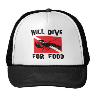 Will Dive For Food Down Flag Trucker Hat