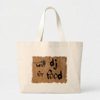 Will DJ For Food - Disc Jockey Tramp Starving Canvas Bag