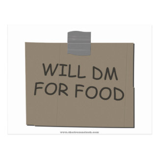 Will DM For Food Postcard