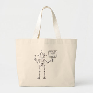 Will Do Sums For Beer Large Tote Bag