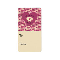 Will Ewe Be My Valentine? Heart background Label