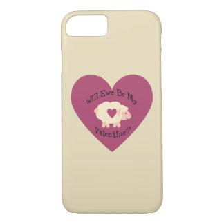 Will Ewe Be My Valentine? iPhone 8/7 Case