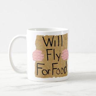 """Will Fly For Food"" White 11 oz Mug"