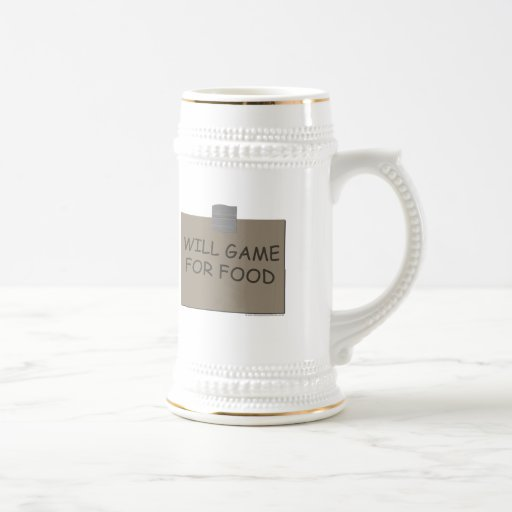 Will Game For Food 18 Oz Beer Stein