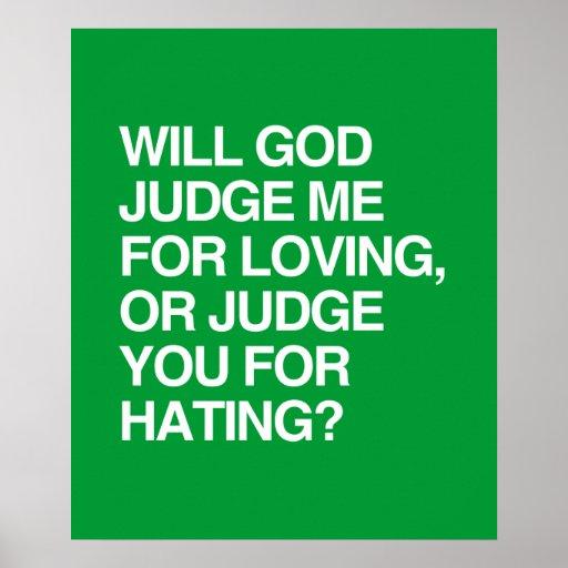 WILL GOD JUDGE ME FOR LOVIN POSTER