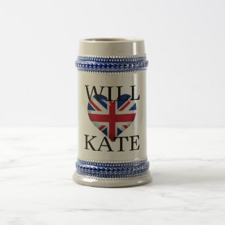 Will Heart Kate 1 Beer Stein