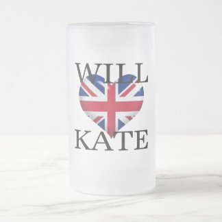 Will Heart Kate 1 Frosted Glass Beer Mug