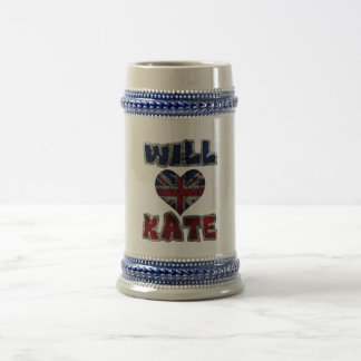 Will Heart Kate 2 Beer Stein