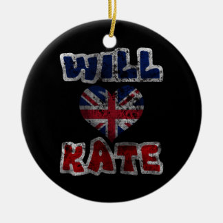 Will Heart Kate 2 Ceramic Ornament