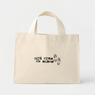 Will Hike For Cache! Mini Tote Bag