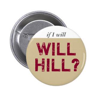 Will Hill grey plum 2 Inch Round Button