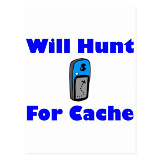 Will Hunt for Cache Postcard