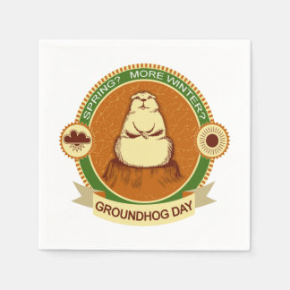 Will It Be? Groundhog Day Party Paper Napkins